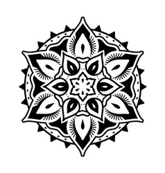 Decorative and oriental mandala style ornaments vector