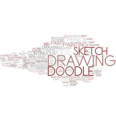 Drawing word cloud concept vector