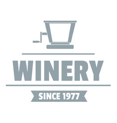 factory old winery logo simple gray style vector image vector image