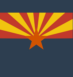 flag of the us state of arizona vector image vector image