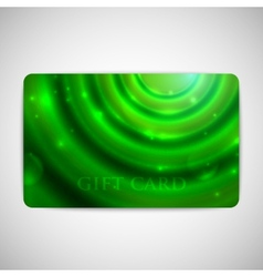 green gift card with sparkles vector image vector image