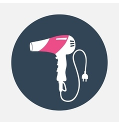 Hairdryer with cord two pin plug icon household vector