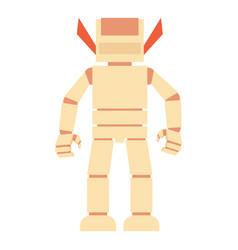 Humanoid robot icon cartoon style vector