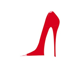 icon high heel vector image