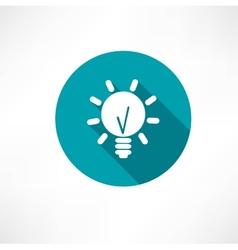 lamp idea icon vector image vector image