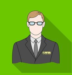 Male realtorrealtor single icon in flat style vector