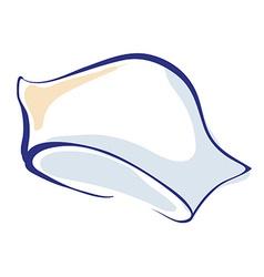 Nurse hand drawn cap or hat icon vector