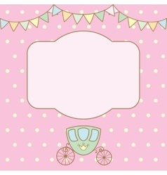 Polka dot background with frame for text or photo vector