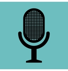 retro microphone news graphic vector image