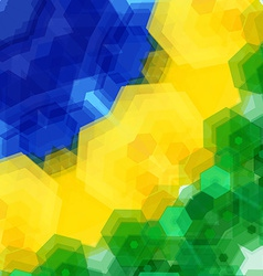 Retro pattern made of hexagonal shapes Mosaic vector image vector image