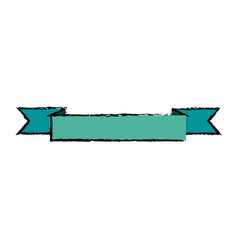 ribbon banner blank decoration element vector image