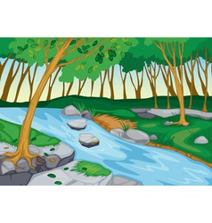 River flowing in nature vector