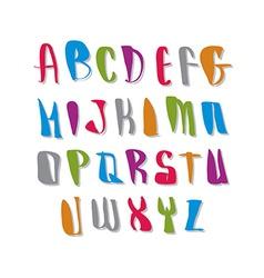 Script font alphabet letters vector