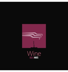 wine bottle design background vector image