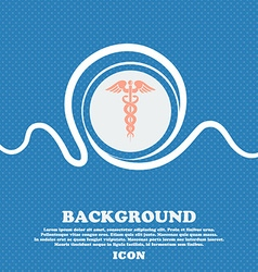 medicine sign Blue and white abstract background vector image