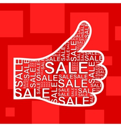 Hand sale vector image