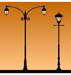Vintage street light vector image