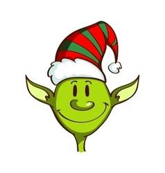 Christmas green elf vector