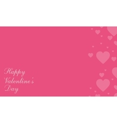 Happy valentine day style greeting card vector