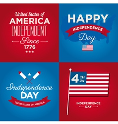 Happy independence day usa cards vector