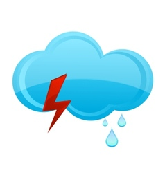 Nature rain cloud symbol blue color vector