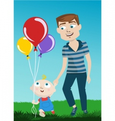 father and kid vector image