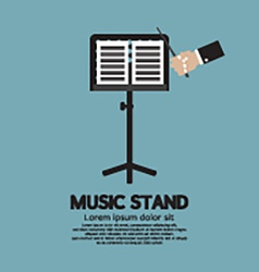 Single music stand with conductor vector