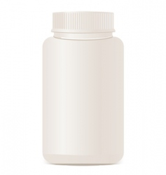 a white plastic bottle isolate vector image