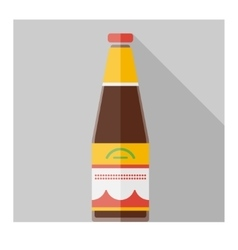 Color flat soy sauce bottle template vector