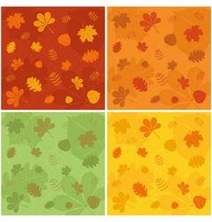 Autumn patterns vector image