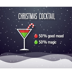 Christmas cocktail vector