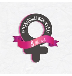 8 march international womens day vector