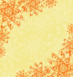 Background with abstract orange flowers vector