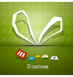 Abstract Christmas ribbon theme Merry Christmas vector image