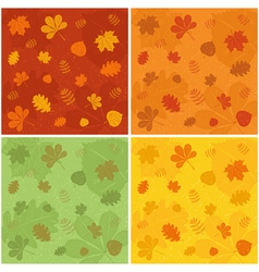 Autumn patterns vector image