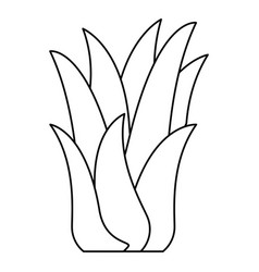 Black silhouette of corn plant vector
