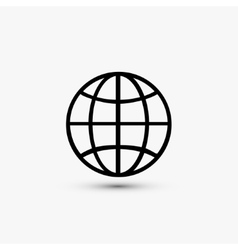 black web icon on white background Eps10 vector image vector image