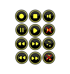 Buttons for radio vector