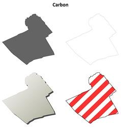 Carbon map icon set vector