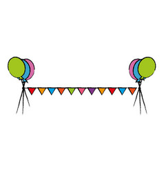 Celebration garlands isolated icon vector
