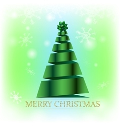 Christmas card on green background vector