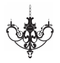 Classic baroque chandelier on white vector