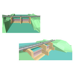 dam vector image vector image
