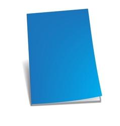 Empty blue brochure vector image vector image