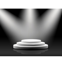 empty podium on black vector image