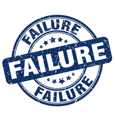 Failure blue grunge stamp vector
