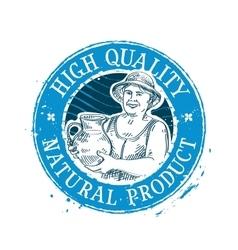 fresh drink logo design template milk or vector image