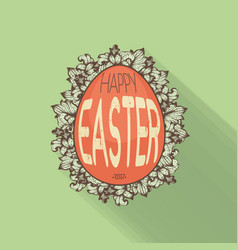 hand drawn easter egg vector image