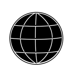Isolated global sphere design vector