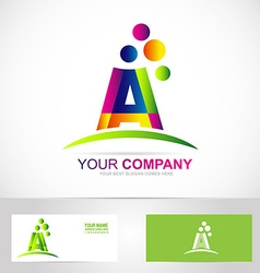 Letter a colors logo vector image vector image